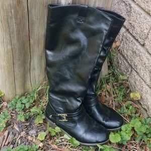 Bamboo Tall black riding boots